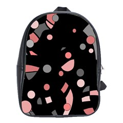 Pink and gray abstraction School Bags (XL)