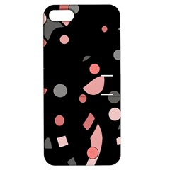 Pink and gray abstraction Apple iPhone 5 Hardshell Case with Stand