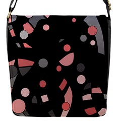 Pink and gray abstraction Flap Messenger Bag (S)