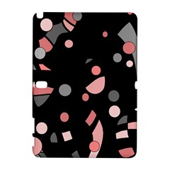 Pink and gray abstraction Samsung Galaxy Note 10.1 (P600) Hardshell Case