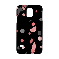 Pink and gray abstraction Samsung Galaxy S5 Hardshell Case