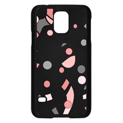 Pink and gray abstraction Samsung Galaxy S5 Case (Black)