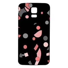 Pink and gray abstraction Samsung Galaxy S5 Back Case (White)
