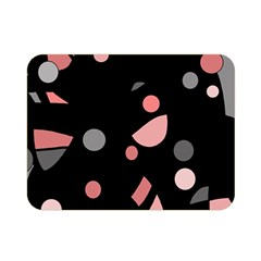 Pink and gray abstraction Double Sided Flano Blanket (Mini)