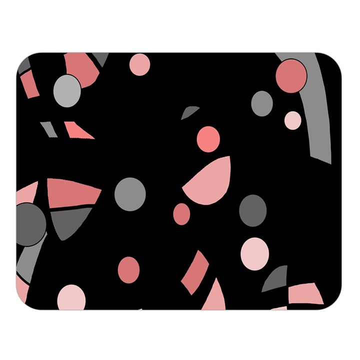 Pink and gray abstraction Double Sided Flano Blanket (Large)
