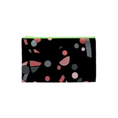Pink and gray abstraction Cosmetic Bag (XS)