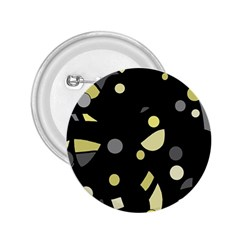 Yellow and gray abstract art 2.25  Buttons