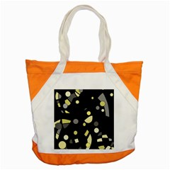 Yellow and gray abstract art Accent Tote Bag