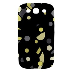 Yellow and gray abstract art Samsung Galaxy S III Hardshell Case