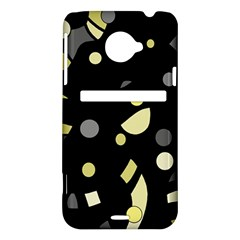 Yellow and gray abstract art HTC Evo 4G LTE Hardshell Case
