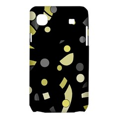 Yellow and gray abstract art Samsung Galaxy SL i9003 Hardshell Case