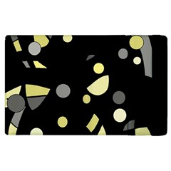 Yellow and gray abstract art Apple iPad 2 Flip Case