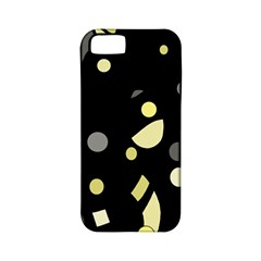 Yellow and gray abstract art Apple iPhone 5 Classic Hardshell Case (PC+Silicone)