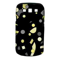Yellow and gray abstract art Samsung Galaxy S III Classic Hardshell Case (PC+Silicone)