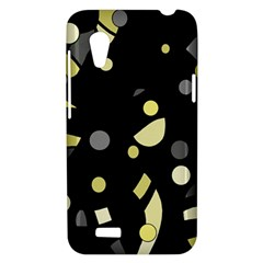 Yellow and gray abstract art HTC Desire VT (T328T) Hardshell Case