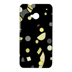 Yellow and gray abstract art HTC One M7 Hardshell Case