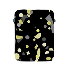 Yellow and gray abstract art Apple iPad 2/3/4 Protective Soft Cases