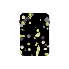 Yellow and gray abstract art Apple iPad Mini Protective Soft Cases