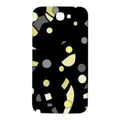 Yellow and gray abstract art Samsung Note 2 N7100 Hardshell Back Case