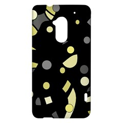 Yellow and gray abstract art HTC One Max (T6) Hardshell Case