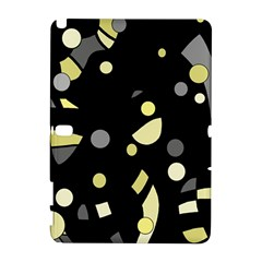 Yellow And Gray Abstract Art Samsung Galaxy Note 10 1 (p600) Hardshell Case