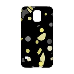 Yellow and gray abstract art Samsung Galaxy S5 Hardshell Case