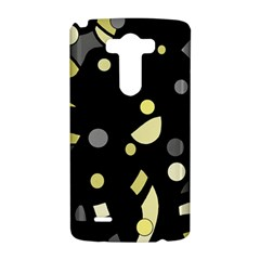 Yellow and gray abstract art LG G3 Hardshell Case