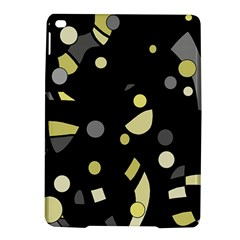 Yellow and gray abstract art iPad Air 2 Hardshell Cases