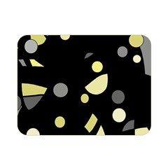 Yellow and gray abstract art Double Sided Flano Blanket (Mini)