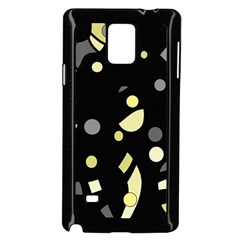 Yellow and gray abstract art Samsung Galaxy Note 4 Case (Black)
