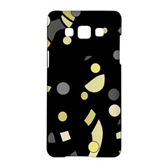 Yellow and gray abstract art Samsung Galaxy A5 Hardshell Case
