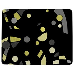 Yellow and gray abstract art Jigsaw Puzzle Photo Stand (Rectangular)
