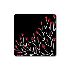 Elegant tree 2 Square Magnet