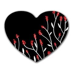 Elegant tree 2 Heart Mousepads