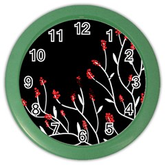 Elegant tree 2 Color Wall Clocks