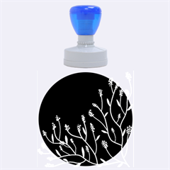 Elegant tree 2 Rubber Round Stamps (Large)