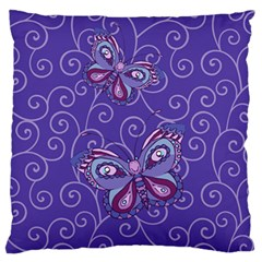 Butterfly Large Flano Cushion Case (two Sides)
