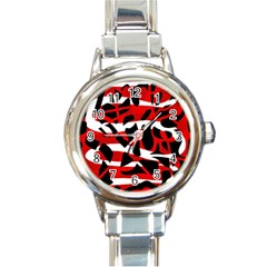 Red chaos Round Italian Charm Watch