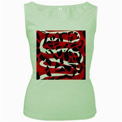 Red chaos Women s Green Tank Top