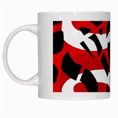 Red Chaos White Mugs