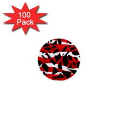 Red chaos 1  Mini Magnets (100 pack)