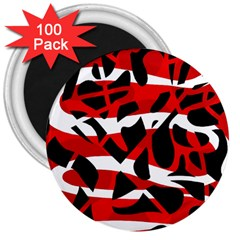 Red chaos 3  Magnets (100 pack)