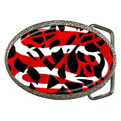 Red chaos Belt Buckles