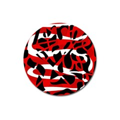 Red chaos Magnet 3  (Round)