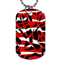 Red chaos Dog Tag (One Side)