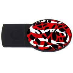 Red chaos USB Flash Drive Oval (2 GB)