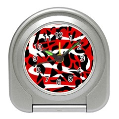 Red chaos Travel Alarm Clocks