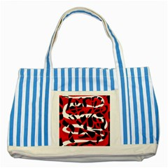 Red chaos Striped Blue Tote Bag