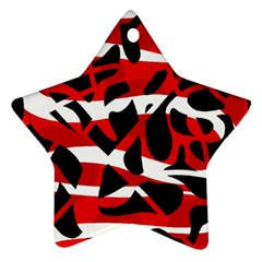 Red chaos Star Ornament (Two Sides)