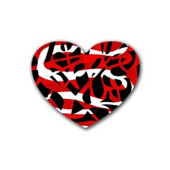 Red chaos Heart Coaster (4 pack)